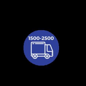 DE 1.500 A 2500 C.C