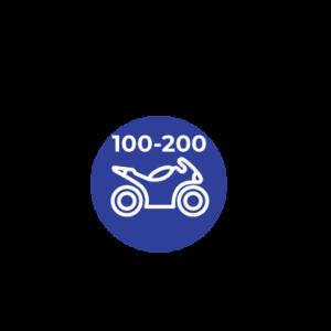 DE 100 A 200 C.C
