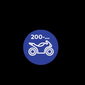 MÁS DE 200 C.C